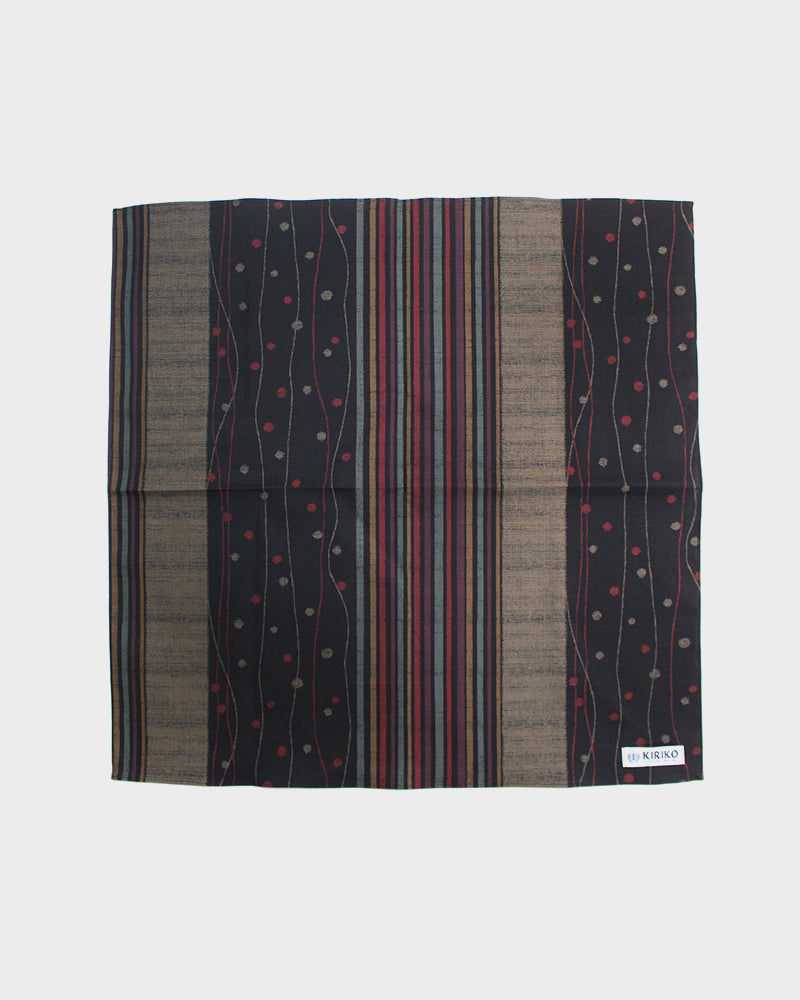 Bandana, Black Multi-Pattern Shima