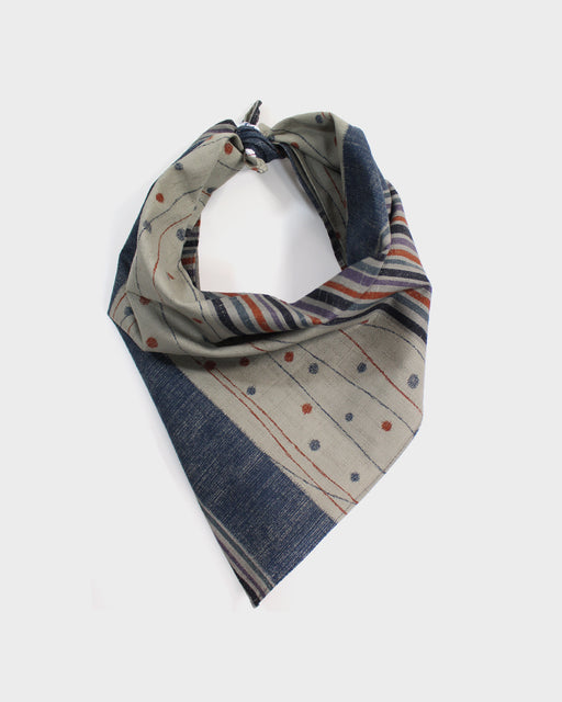 Bandana, Grey Multi-Pattern Shima