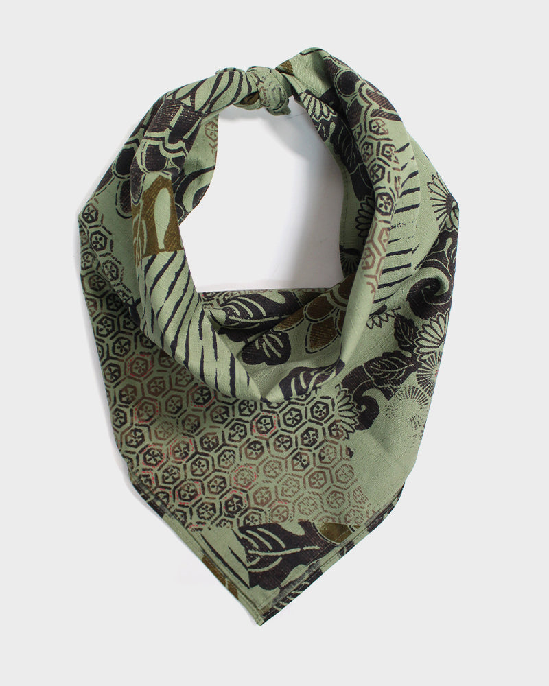 Bandana, Green Multi-Kiku