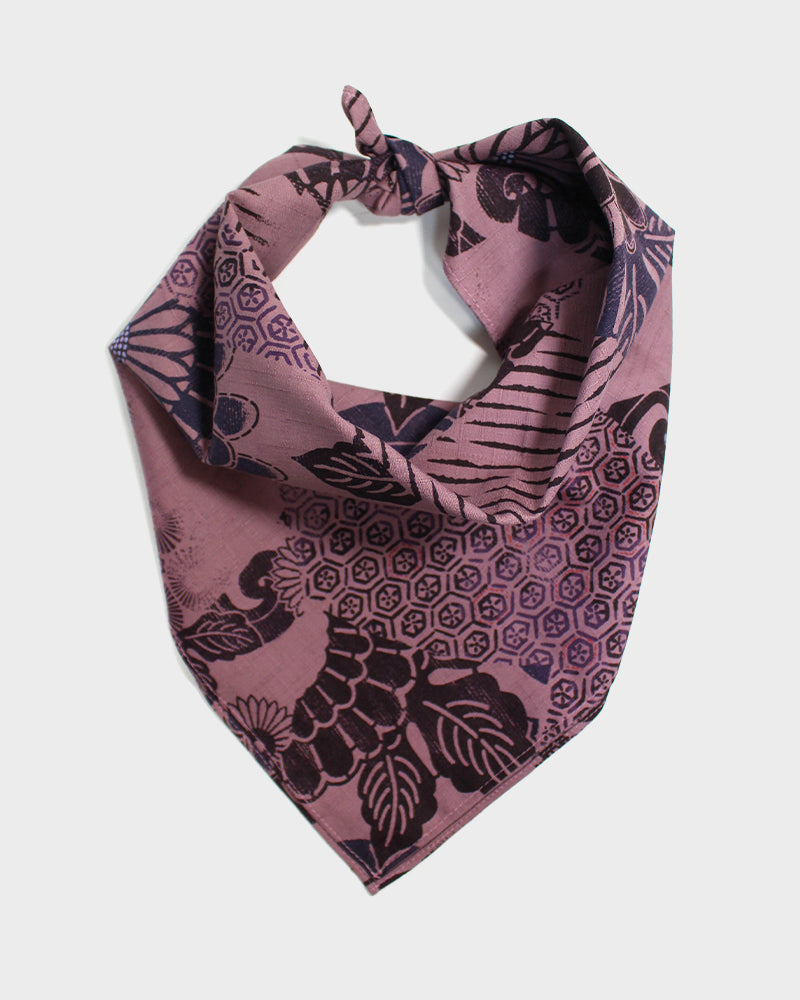 Bandana, Purple Multi-Kiku