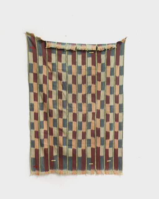 African Blanket, Abstract Colorful Checkered