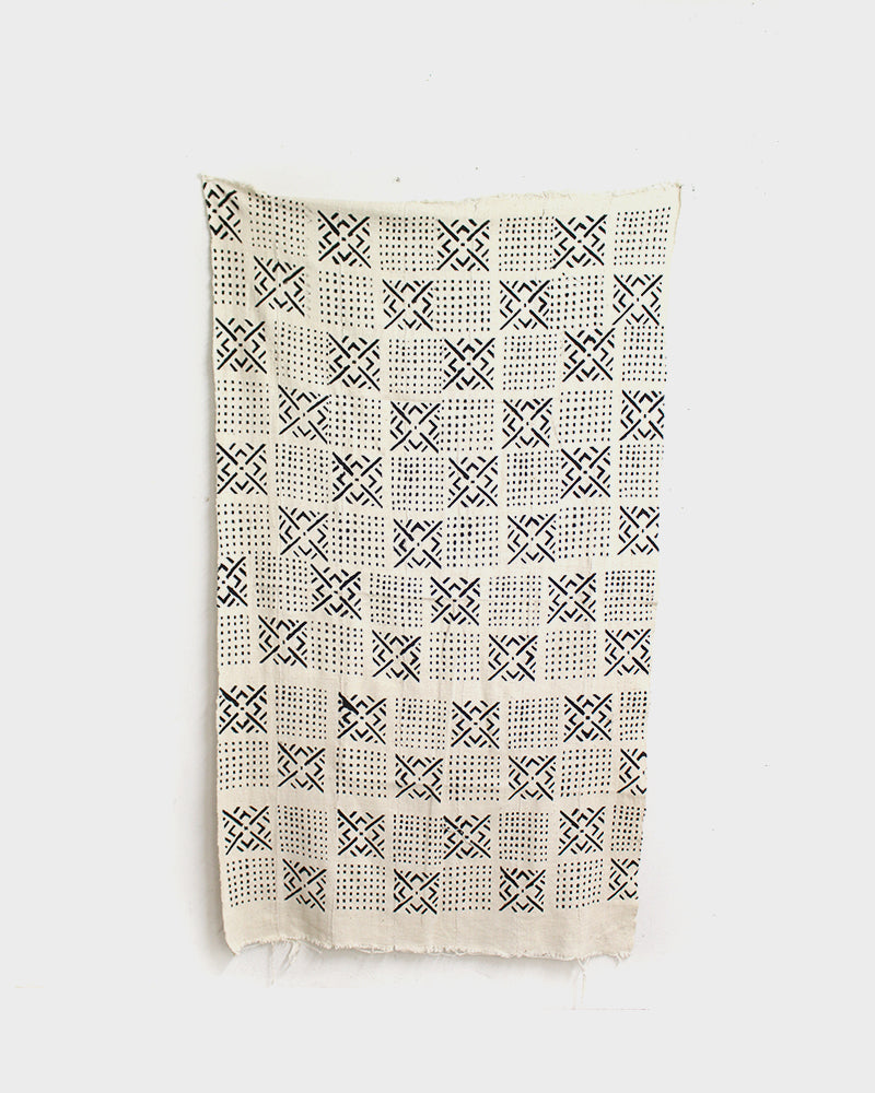African Blanket, Abstract Black and White Checkers