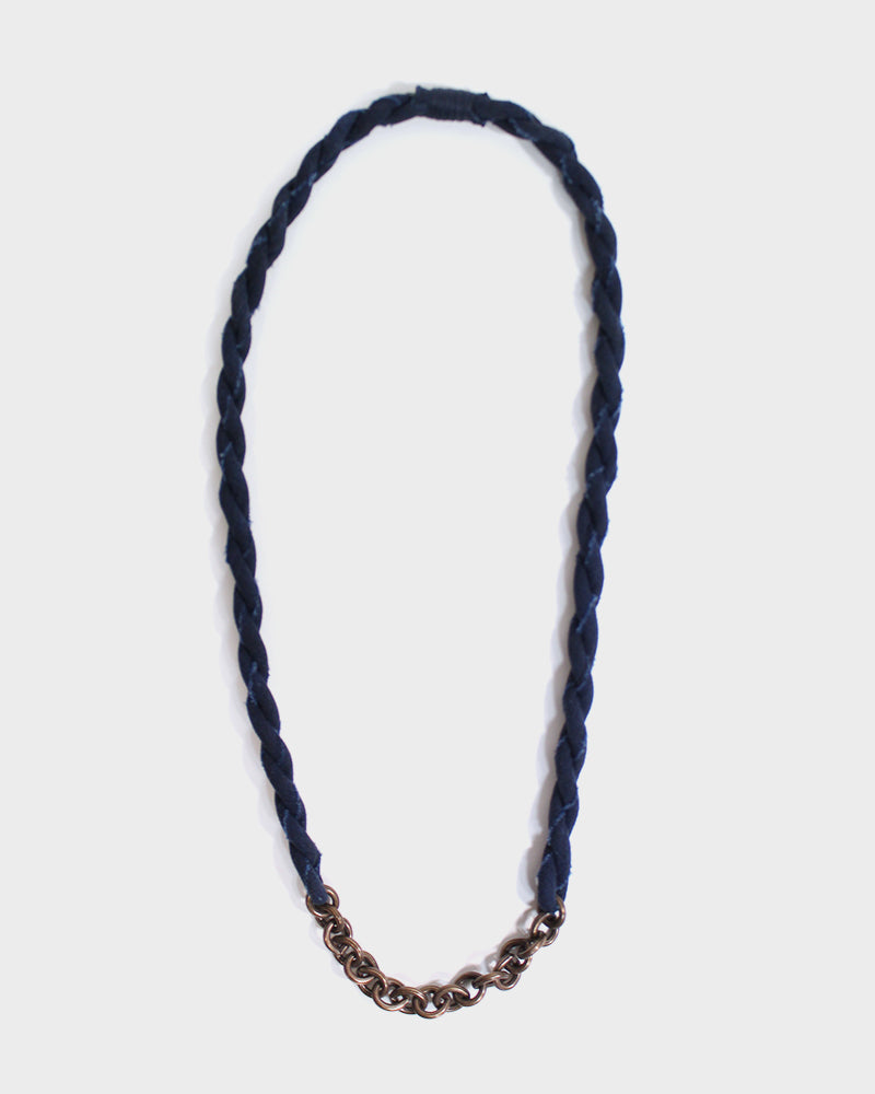 Boet X Kiriko Boro Necklace, Dark Indigo