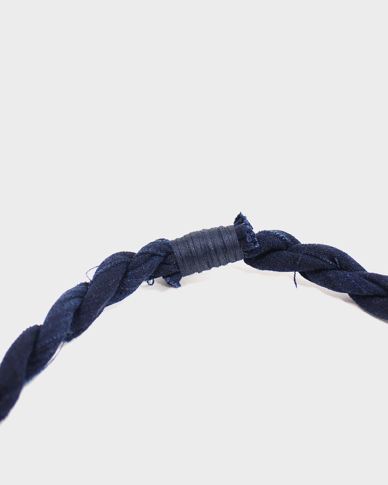 Boet X Kiriko Boro Necklace, Dark Indigo Blue