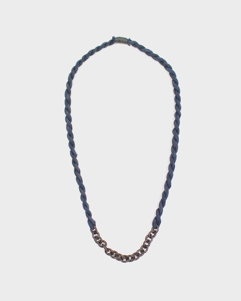 Boet X Kiriko Boro Necklace, Steel Blue