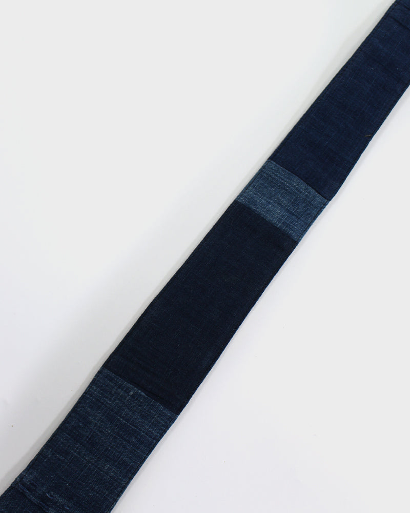 Boro Tie, Multi Indigo with Sashiko