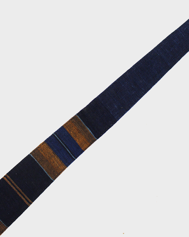 Boro Tie Orange and Blue Shima