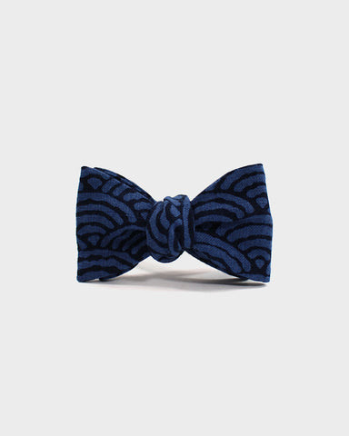 Bow Tie Blue Large Seigaiha