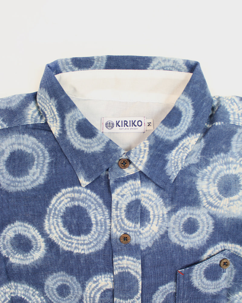 Button-Up Shirt, Long Sleeve, Ne-maki Shibori