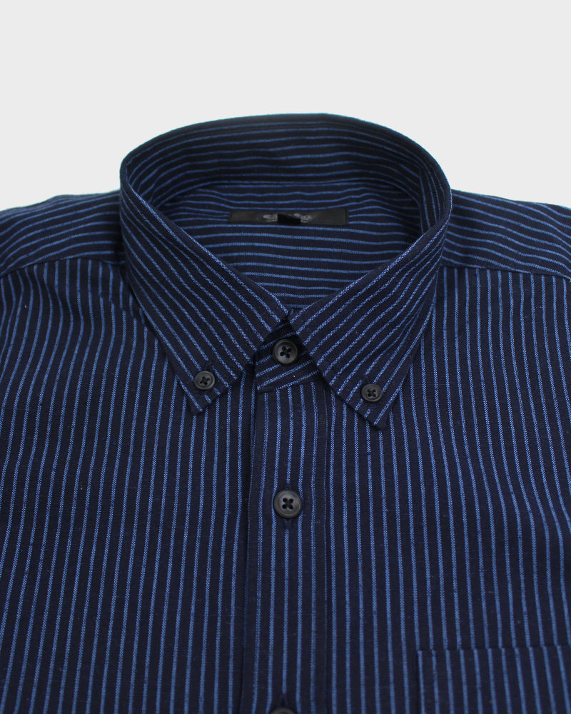 Long Sleeve Button-Up Two Tone Shima