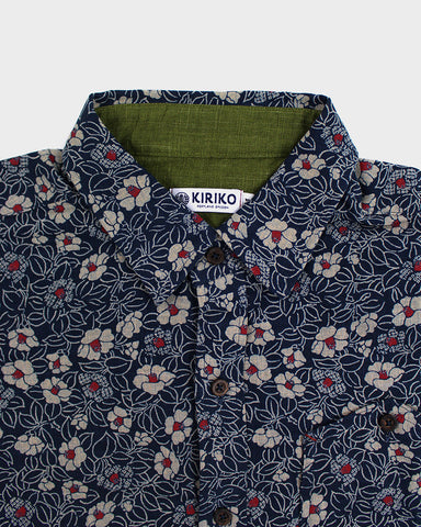 Button-Up Shirt Long-Sleeve Mini Tsubaki