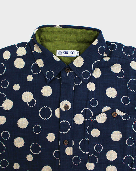 Button-Up Shirt Long-Sleeve Indigo Yukiwa