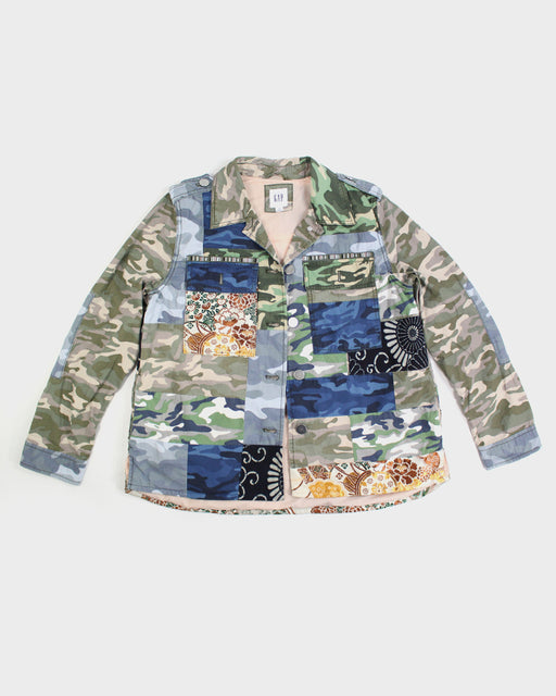 One of a Kind Boro Patched Camouflage Jacket with Sashiko (M)