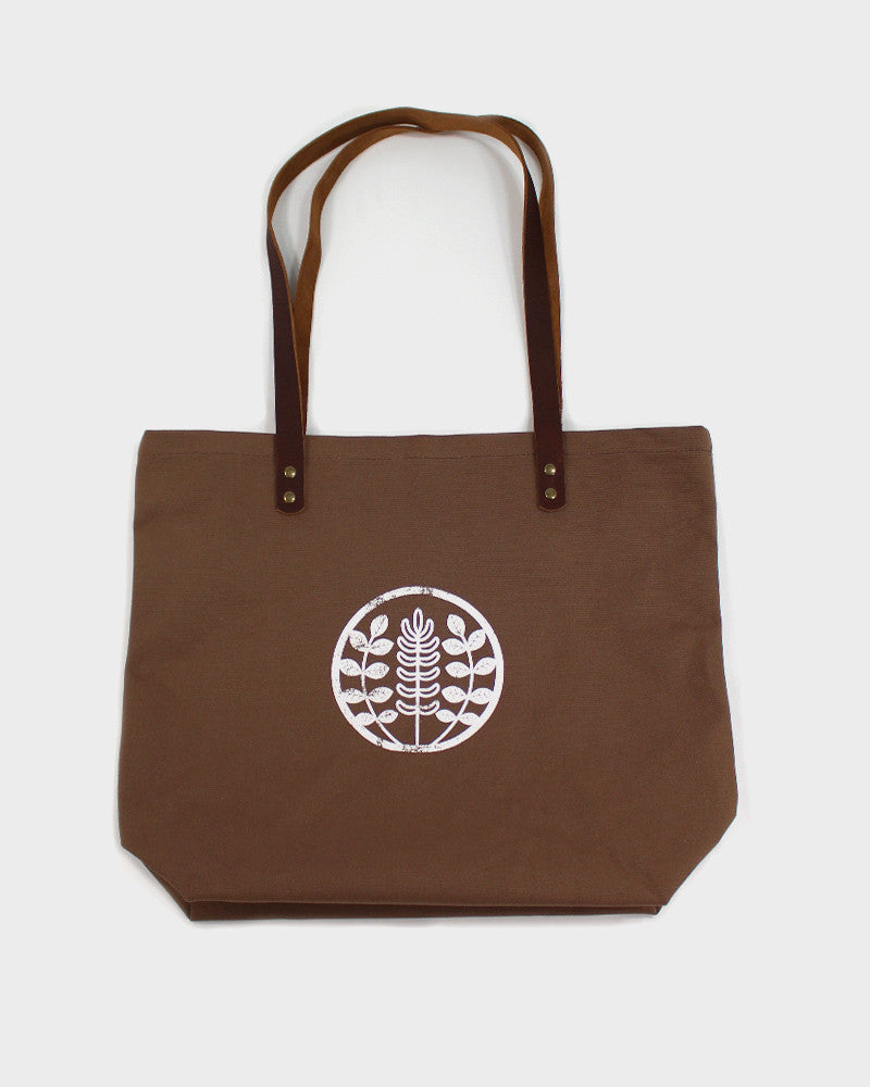 Kiriko Large Canvas Tote, Brown
