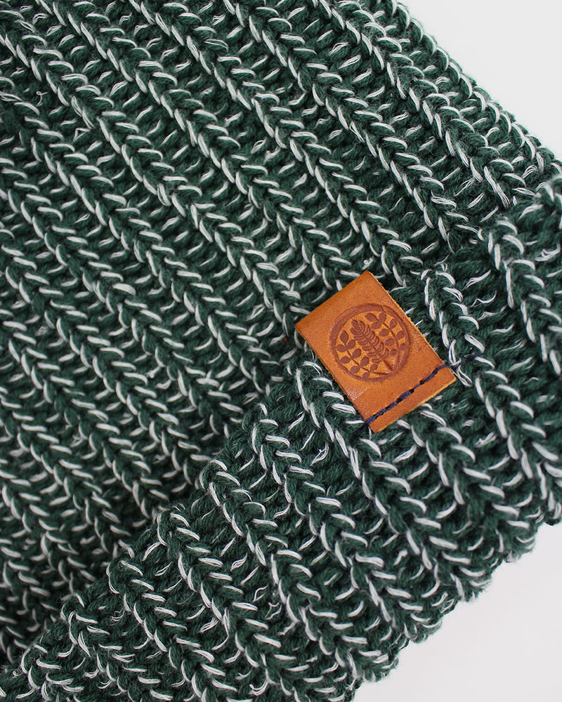 Knit Cap Marbled Green