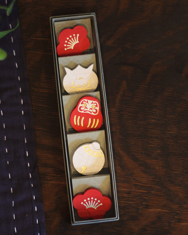 Chopstick Rests Set, Kohaku