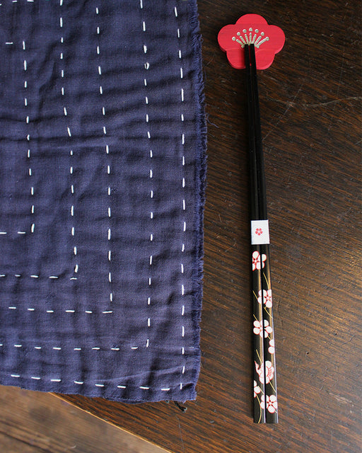 Chopsticks and Rest Set, Plum Blossom