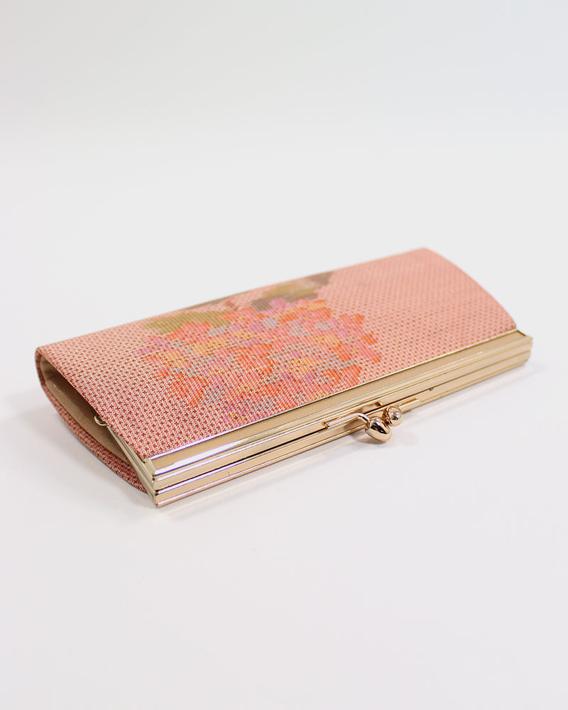 Vintage Clutch, Pink with Hydrangea