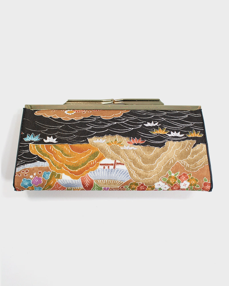 Vintage Clutch, Black and Orange Landscape