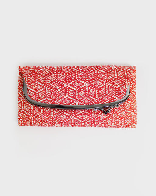 Red Shibori, Clutch Bag
