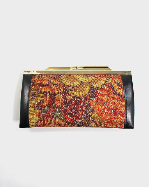 Vintage Clutch/Wallet, Orange and Brown Same
