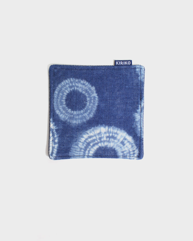 Coaster Set of 5, Indigo Shibori