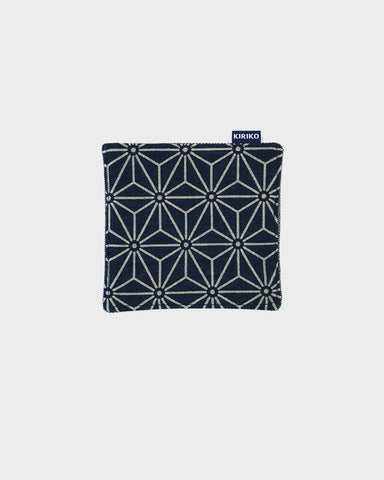 Coaster Set of 5, Indigo Asanoha