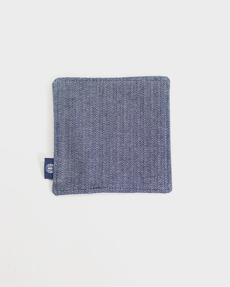Coaster Set of 5, Indigo Small Tsubaki