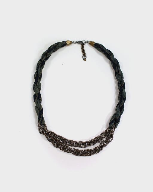 Boet X Kiriko Boro Collar Necklace, Shima, Blue, Indigo and Yellow