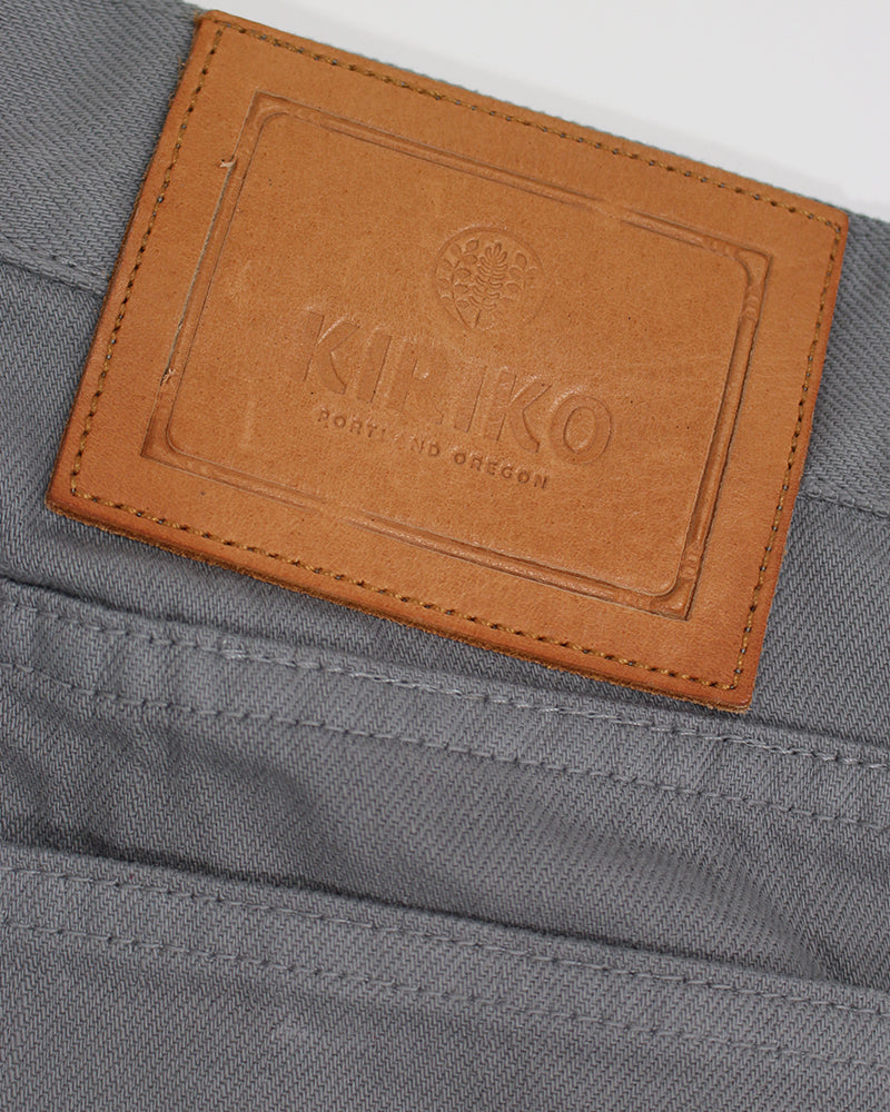 Premium Selvedge Grey Denim, Mens, Asanoha