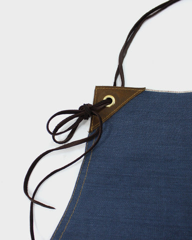 Japanese Selvedge Denim Work Apron, Blue