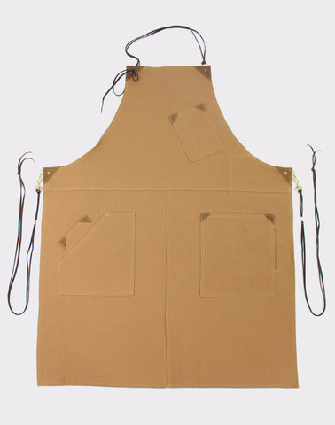 Canvas Work Apron, Brown/Khaki