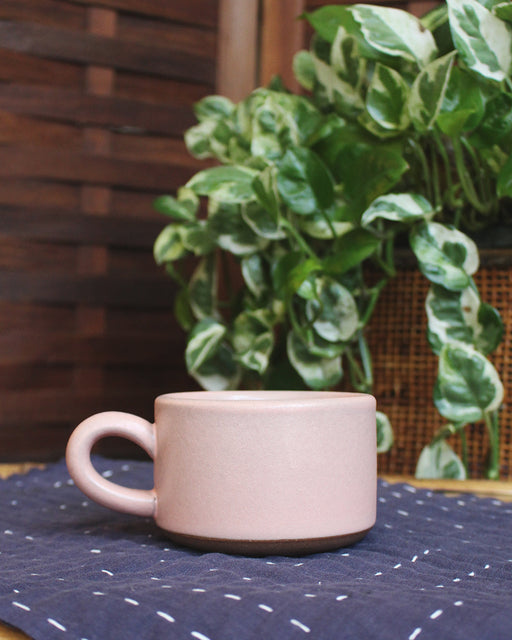 Dina Light Pink Stoneware Mug