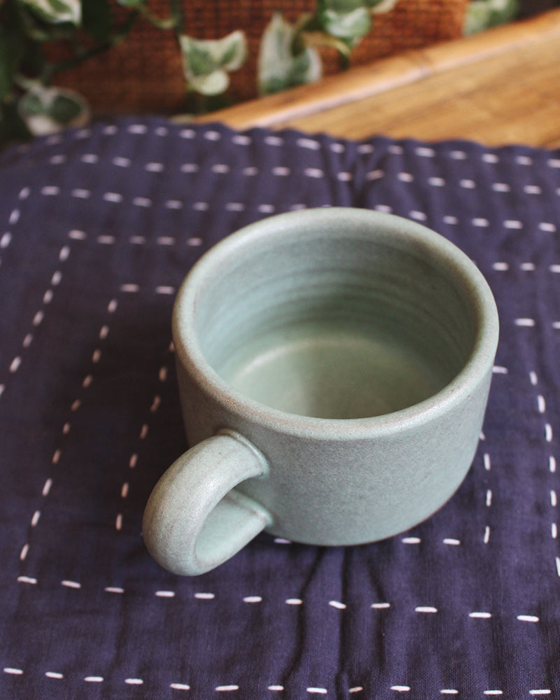 Dina Light Teal Stoneware Mug