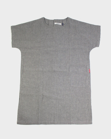 Oversized Pocket Dress, Grey Shima