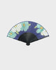 Vintage Fan, Blue with White and Teal Flowers