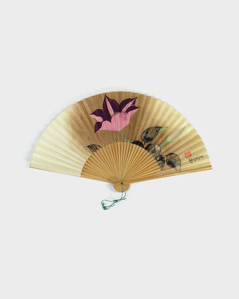 Vintage Fan, Painted Bellflower