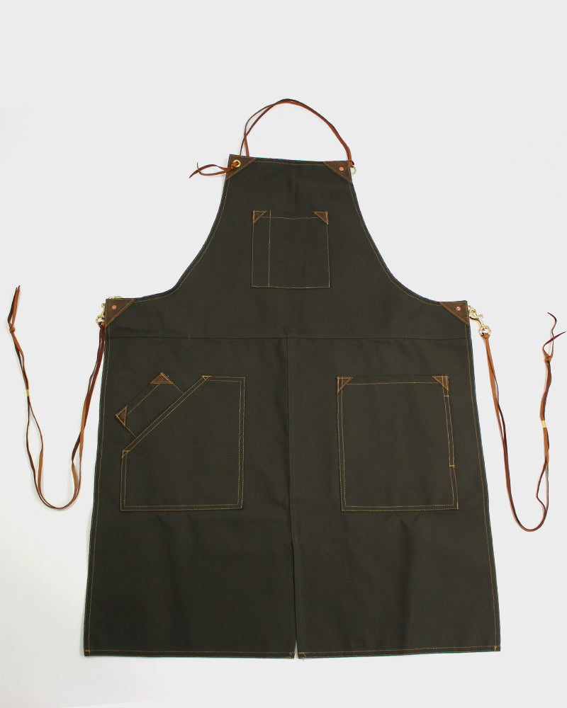 Canvas Work Apron, Military Green