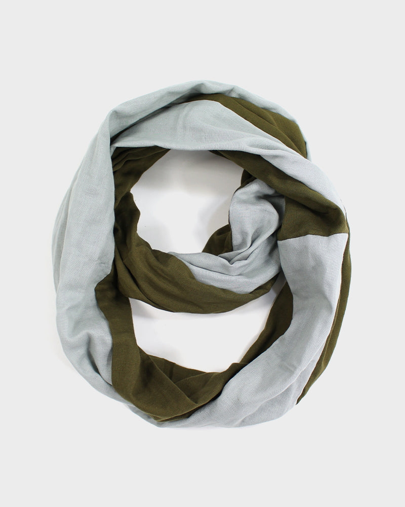 Double Gauze Split Infinity Scarf, Juniper and Fern