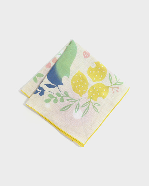 Double Gauze Reversible Handkerchief, Yummy Fruit