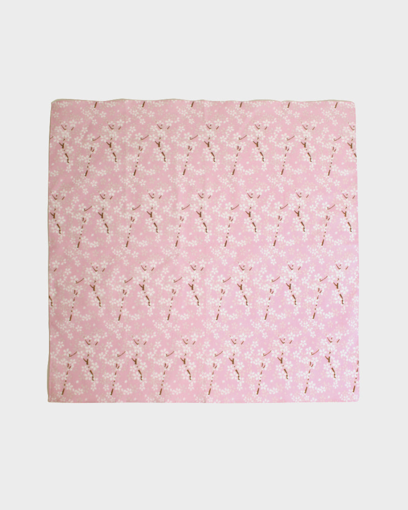 Japanese Handkerchief, Tenasen, Pink with White Sakura