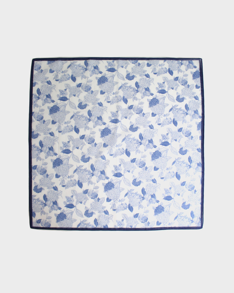 Japanese Handkerchief, Blue and White Hydrangea