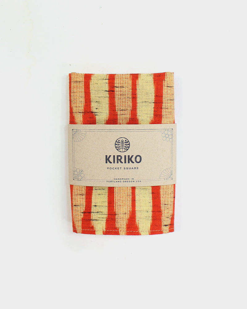 Pocket Square, Orange and Yellow Kasuri