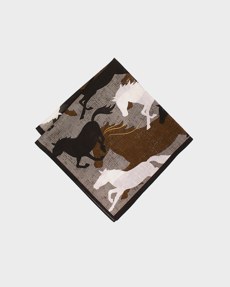 Japanese Handkerchief, Brown Horses