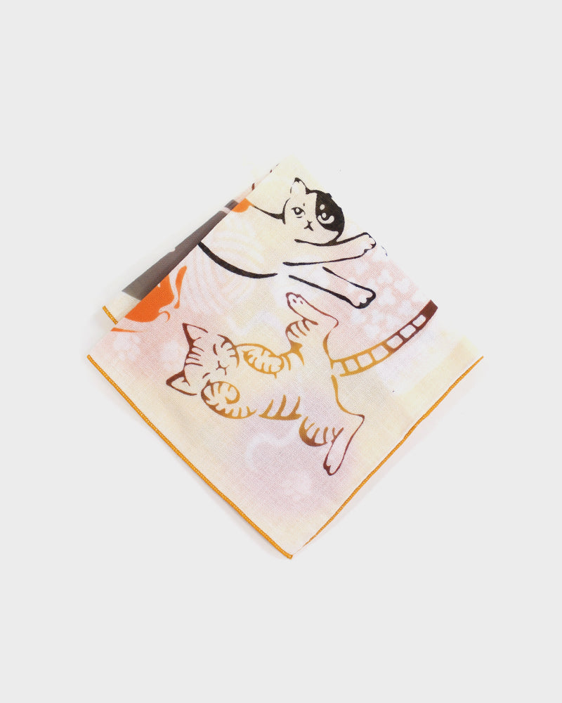 Double Gauze Reversible Handkerchief, Cat