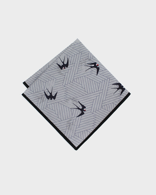 Japanese Handkerchief, Swallow with Black Trim
