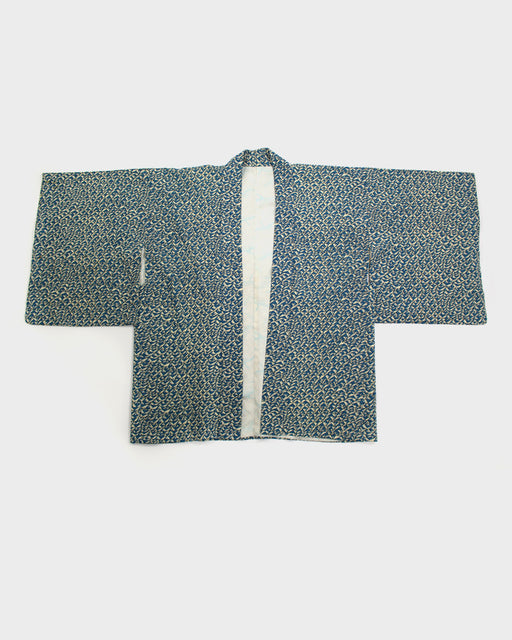 Vintage Haori Jacket, Cream and Teal