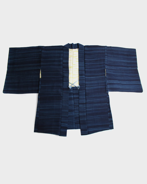 Vintage Haori Jacket, Blue Stripes
