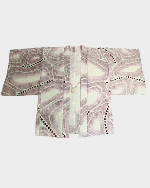 Vintage Shibori Haori, Ebicha Abstract Rock Pattern