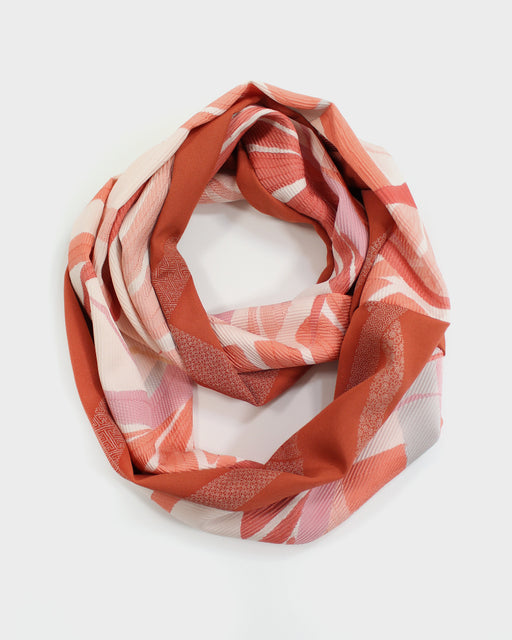 Kimono, Orange and Pink, Silk Infinity Scarf